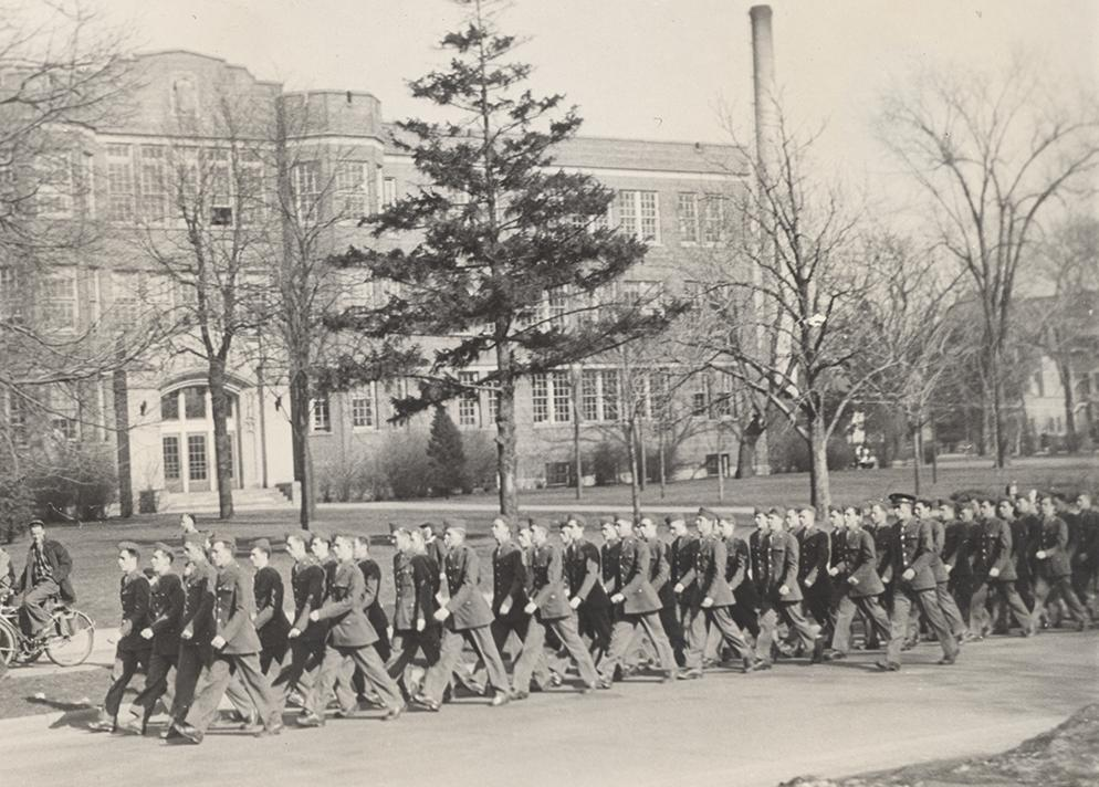 First cadets of the 96th College Detachment arrive on campus