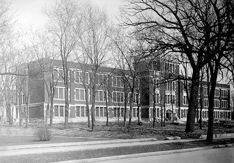 Dempsey Hall shortly after construction