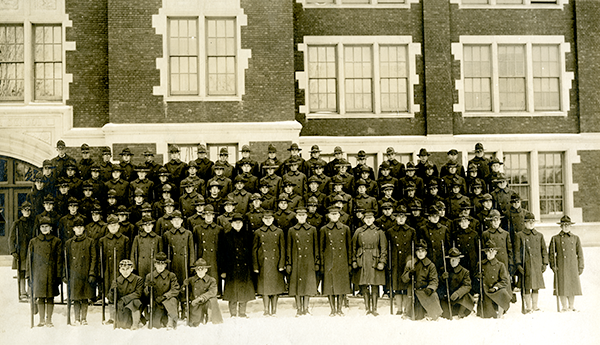 SADC Forms on campus during WWI
