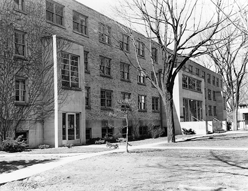 Radford Hall opens as the first dormitory built on campus