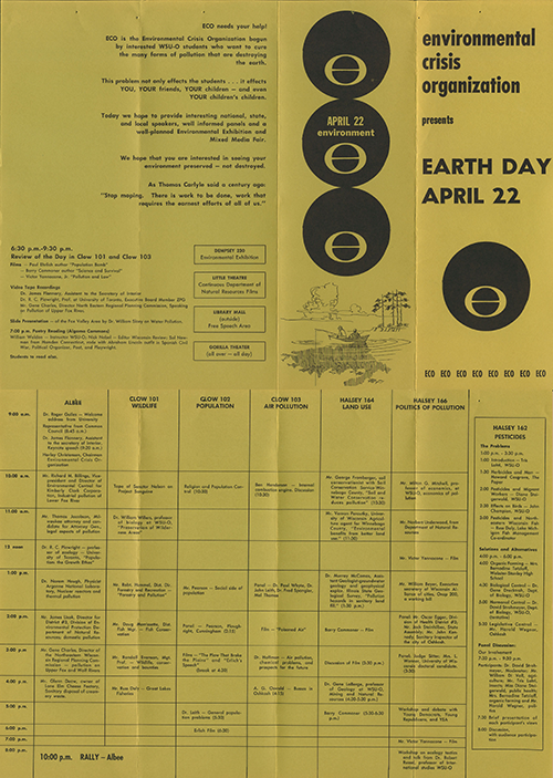 Students, faculty, staff and community members celebrate First Earth Day