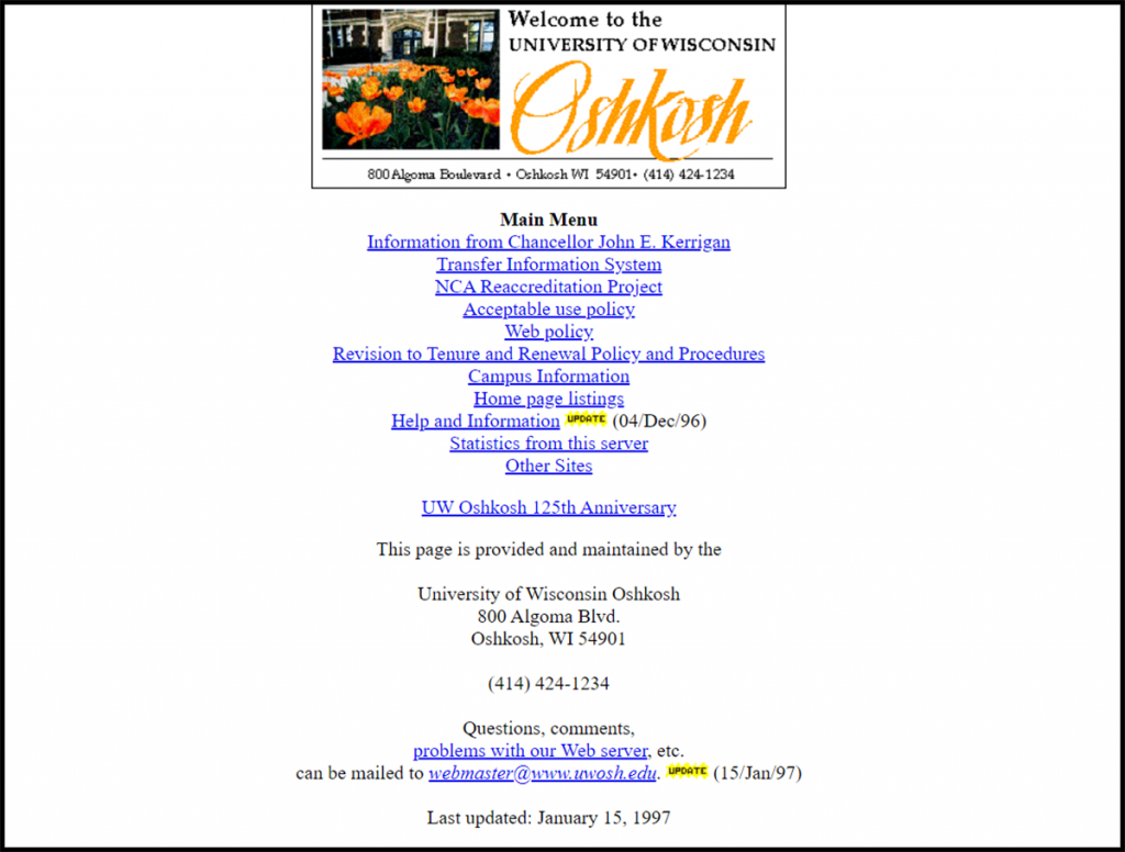 First campus website appears online