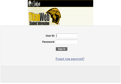 Logon to TitanWeb