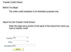Transfer Credit Wizard