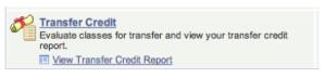 transfer credit report