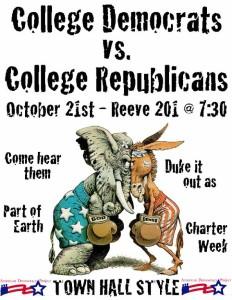College Democrats vs. College Republicans Debate