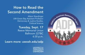 Ad for the 2013 Constitution Day Lecture Speaker Alison Staudinger