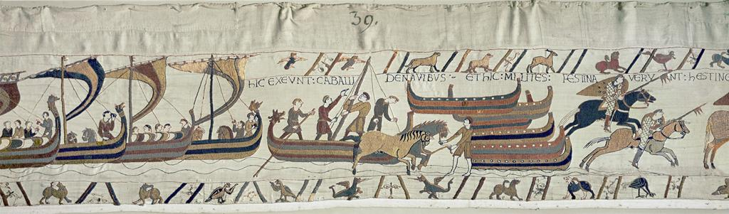 The invading Norman forces disembark in England