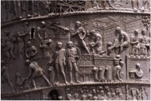 Image depicting Trajan's Column on the Bayeux Tapestry