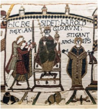 Image depicting Harold on the Bayeux Tapestry
