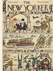 Bayeux Tapestry Popular Culture Reference - The New Yorker circa 1944