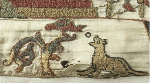 Portion of Bayeux Tapestry depicting Aesop's Fables
