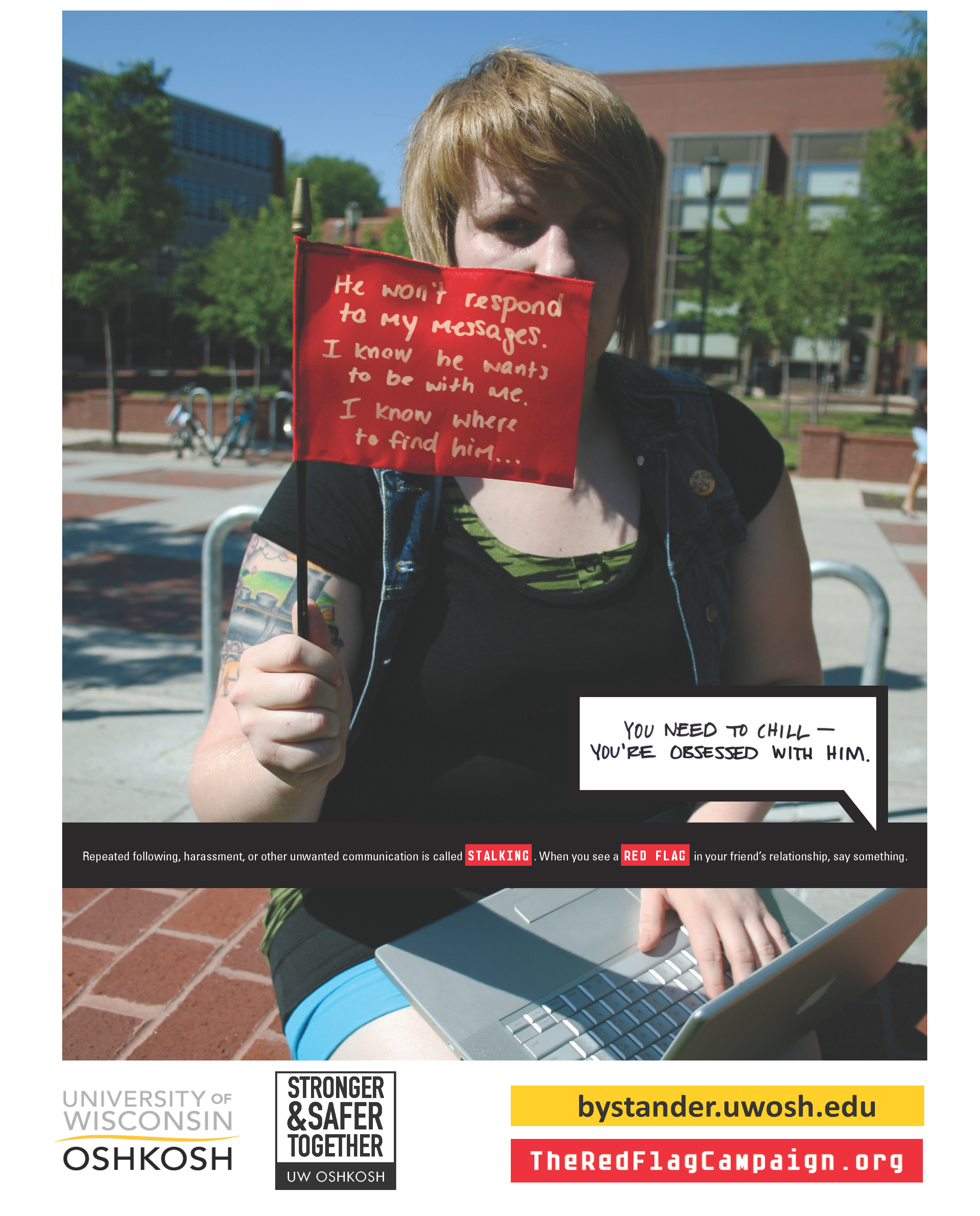 Stalking-Perpetrator-Red Flag Campaign Poster