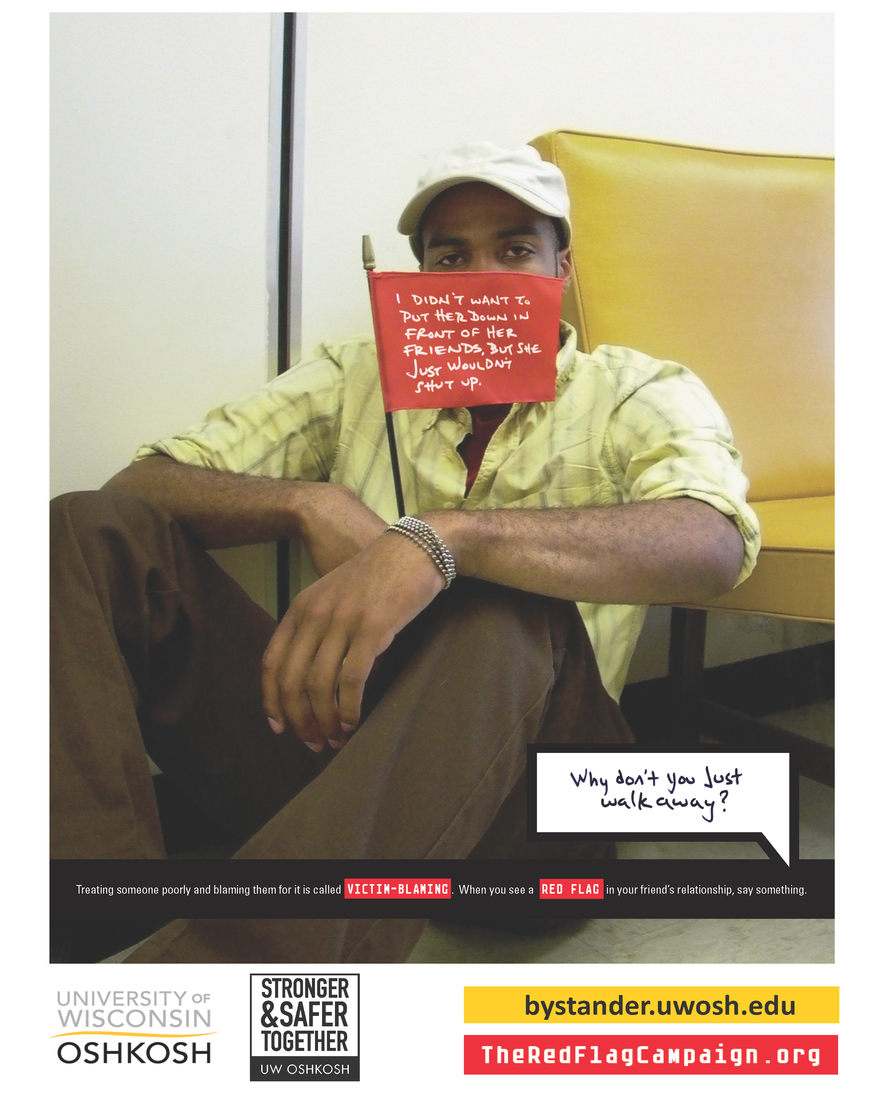 Victim Blaming-Red Flag Campaign Poster