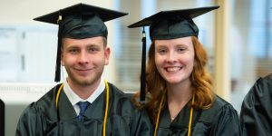 Two students from UW Oshkosh Fond du Lac Campus