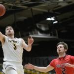 Alex Olson playing basketball