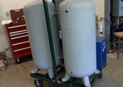 Instrumentation cart - back view