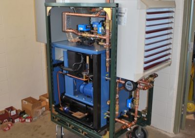Accomplished piping installation