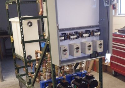 Preliminary layout of electrical panel