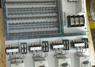 Detailed layout of the electrical board