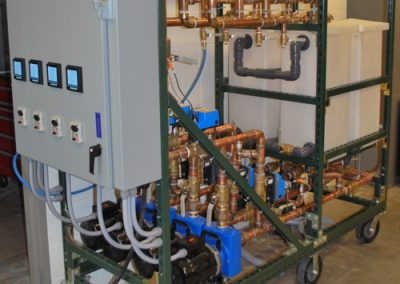 Powered pumping station