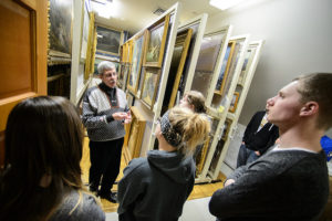Students get a behind the scenes tour of the Oshkosh Public Museum