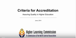 View a video about HLC Accreditation Criteria
