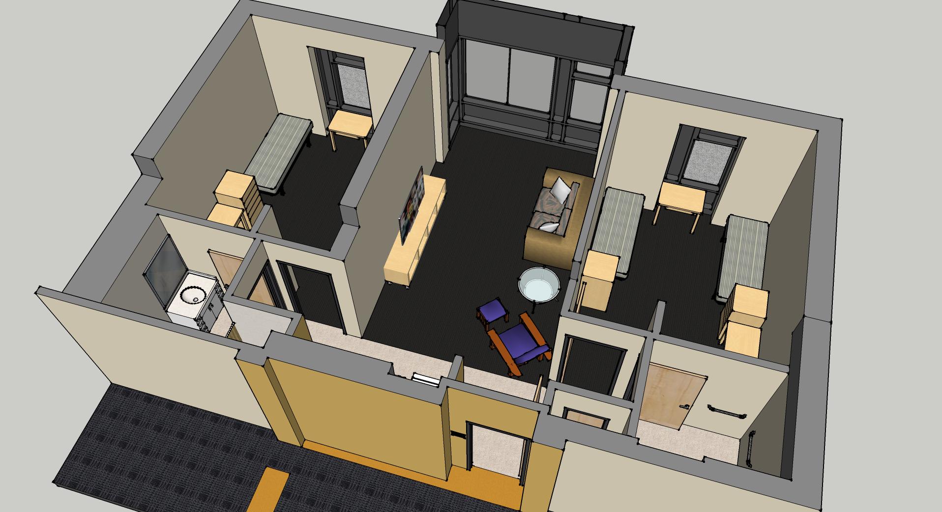 2 bedroom suite view 4