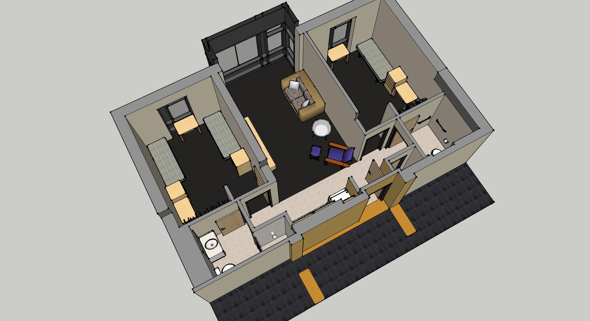 2 bedroom suite. 2 bedroom suite view 5