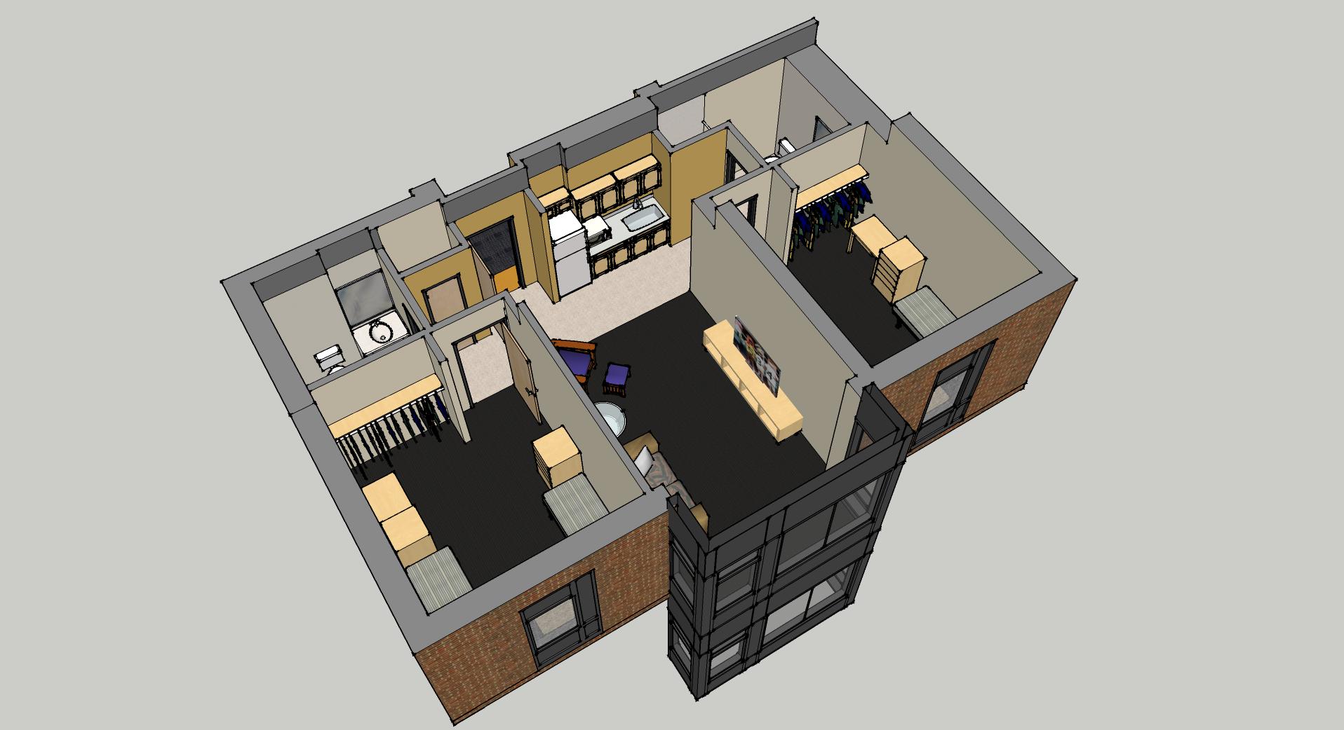 2 bedroom suite view 3