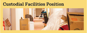 Employment Custodial Facilities Position