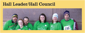 Leadership Opportunities Hall Leader/Hall Council
