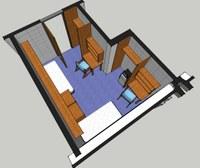 North Scott Hall Room Layout 1