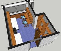North Scott Hall Room Layout 1