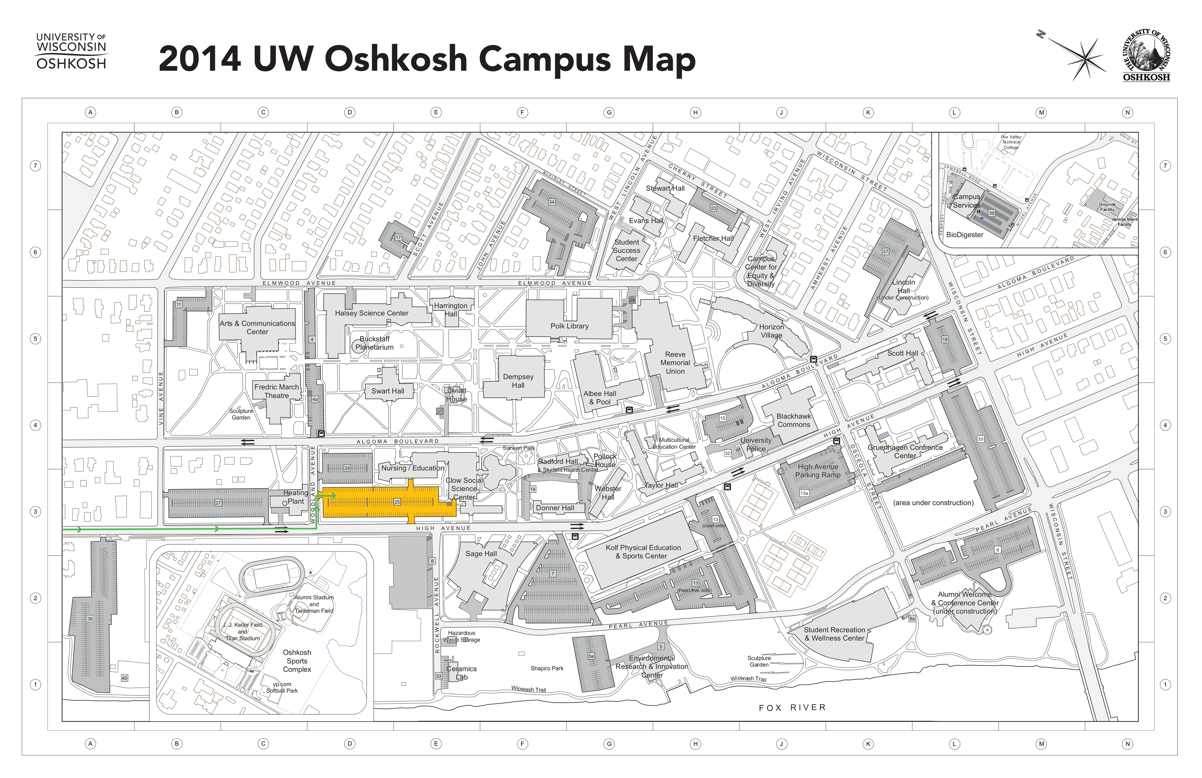 Oshkosh Campus Map.Continuing Students Move In Schedule Maps For Donner Horizon
