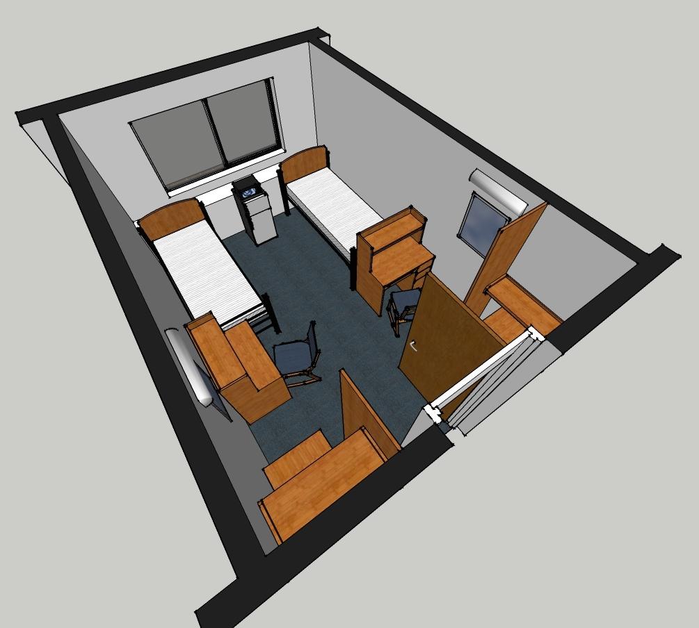 Taylor Hall Room Layout Handicap 2