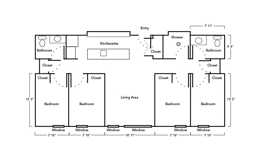 4 Bedroom Suite layout