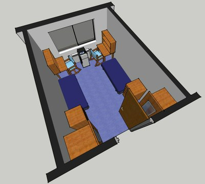 Evans Hall Room Layout 1