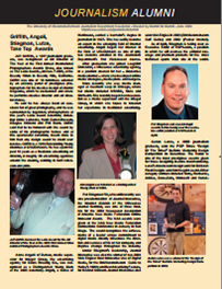 Screenshot of the 2004 Alumni Newsletter