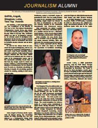 Screenshot of the 2004 Alumni Newsletter