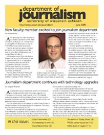 Screenshot of the 2008 Alumni Newsletter