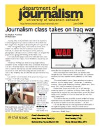 Screenshot of the 2009 Alumni Newsletter