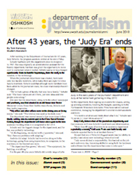 Screenshot of the 2010 Alumni Newsletter