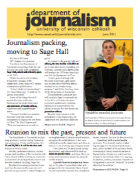 Screenshot of the 2011 Alumni Newsletter