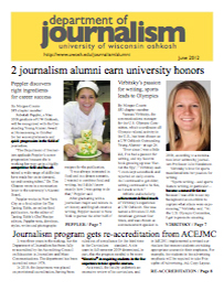Screenshot of the 2012 Alumni Newsletter