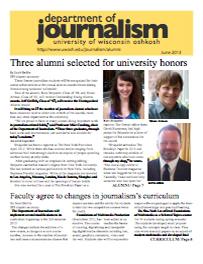 Screenshot of the 2013 Alumni Newsletter