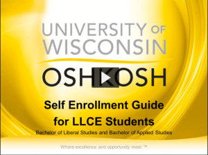 View the self enrollment tutorial for LLCE students.