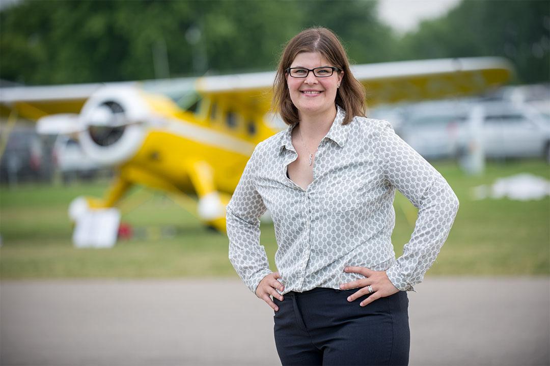 Aviation Management online degree recipient Melissa Raddatz at EAA AirVenture