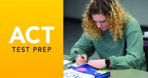 Student participating in ACT Test Prep course