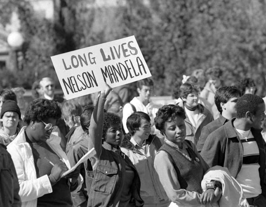 Anti-apartheid rally